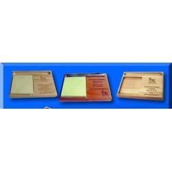 Porta taco madera grabado