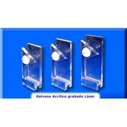 Galvano acrilico con aplicacion laser